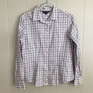 Brooks Brothers 346 Button Up Shirt Checked